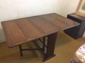 1930's Dining Table - Oak Vaneer - drop leaf design