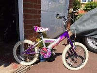 """Girls bike 16"""" wheels would suit 4-7 year old"""