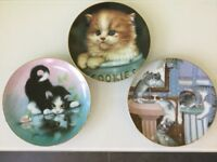 3 Hamilton collection plates / kittens . Excellent Condition . Bargain £10