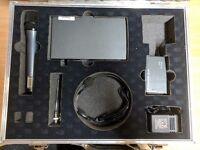 Sennheisher EW wireless handheld and lapel mic kit