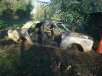 1970 Ford Cortina MK 2 1600E four door saloon body shell with Registration doc