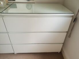 White Ikea chest of drawers for sale