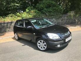 2009 KIA RIO BLACK 1.4 ** ONLY 2 OWNERS FROM NEW - FSH ( 8 SERVICE STAMPS ) **