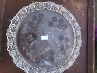 Carmen Mikasa Crystal Torte/Cake Plate Walther Glas, West Germany