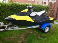 SeaDoo Spark Jet Ski, 90hp, 2Up, 65hrs, inc trailer, cover etc. Owned by me from new, DataTag