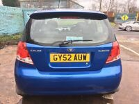 Daewoo Kalos 2owners,2keys,12monthMot,All electric windows,Front and rear fog lights£545
