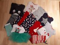 Girl's age 4-5 Christmas bundle of clothes