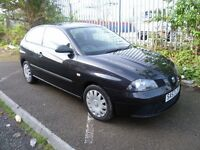 SEAT IBIZA 2007 REG, LONG MOT, VERY TIDY, VERY LOW MILEAGE ONLY 41,000 AND NICE SPEC WITH AIR CON