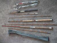 Job Lot of Fishing Rods