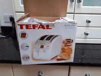Brand new unused Tefal Eite digital display white and chrome Toaster