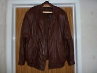 Leather jacket brown soft leather.