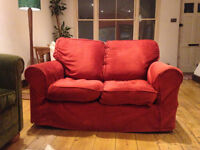 Lovely comfy fabric sofa