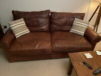 leather 3 seater and 2 seater sofa's