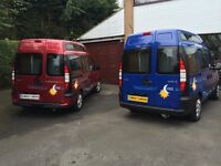 🚙 2004 53 Fiat Doblo 2 berth High-roof 1.9 Turbo Diesel ELX CamperVan in Metallic Ruby & 03 in blue