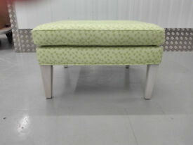 EX-DISPLAY Sofa com Club large square footstool imogen heath geometric spring green / free delivery