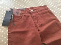 Denim trousers 2 pairs size 28 skinny jeans in denim .one blue one red