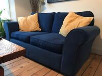 2x blue comfy sofas (£50 each or both for £100!)