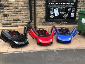 Childrens Ride-On 12v Lamborgini SV In 3 Colours, Parental Remote & Self Drive