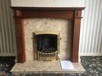 Complete fire place with gas fire
