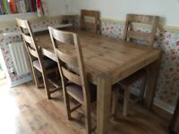 Housing Units Dining Room Table & 4 Chairs - Less than 12 months old