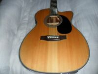 sigma000mg-1ste electro acoustic guitar