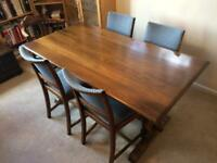 Old sturdy table and chairs dining room / kitchen