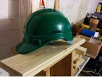 Standard Safety Hard Hat Helmets (x8) & Hi Vis Vests (x7) & Warm Hi Vis Jacket; Job Lot