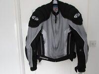 Joe Rocket New Large Armour mesh motorcycle racing jacket Phoenix padded 44 inch chest