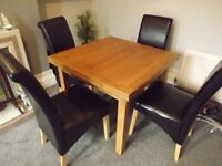 OAK Dining Table and 4 Chairs in Belfast