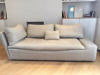 Habitat Sofa - KASHA Light Grey Textured Fabric Right-Arm Lounger