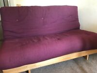 Futon Company - 2 seater double sofa bed / futon with mattress - great deal! Good for small flats