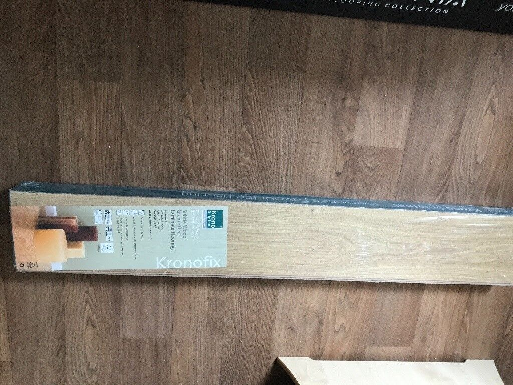 Pack Of Laminate Flooring In Natural Oak Effect