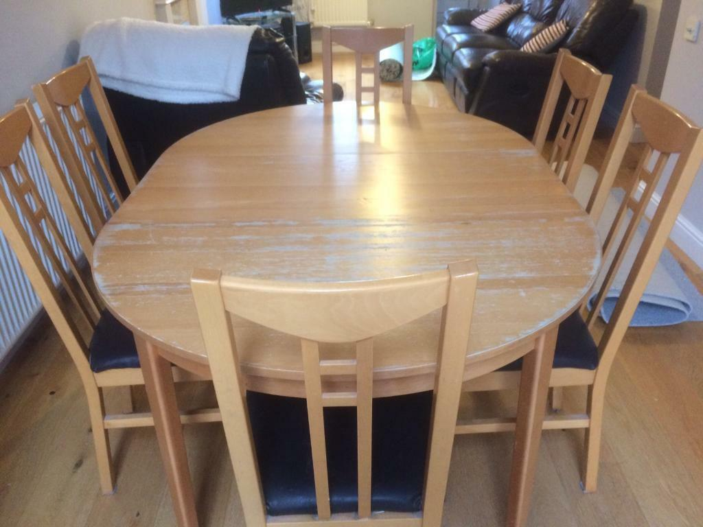 ikea dining table and 6 chairs in bradley stoke bristol gumtree