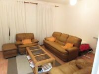 Italian styled leather sofa set plus stool and coffee table_Brown