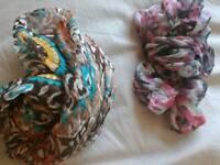 Floral neck scarves