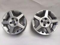 2 x 15 inch Alloy wheels Fiat