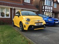 Abarth 595 Turismo Yellow 2016 Latest shape - Enthusiast Owned - 9800 miles