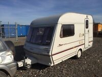 abbey piper 12/2 berth full awning shower room cassette toilet hot and cold running water 12/240v