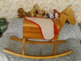 LARGE Vintage Wooden Rocking Horse.