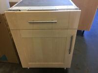 Kitchen Units (Shaker style) including Bosch Oven, integral fridge, freestanding fridge freezer