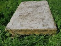 Beautiful stone table top/doorstep round top and rqndom