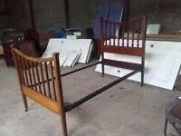 mahogany antique single bed frame