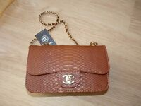 Brown Ladies Chanel alligator style brand new