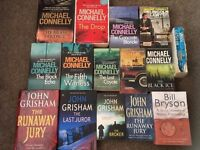 Michael Connelly, John Grisham and Bill Bryson book bundle
