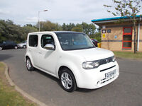 NISSAN CUBE ZAIZEN TOP OF THE RANGE WHITE 2010 ONLY 46K MILES BARGAIN ONLY 5350 *LOOK* PX/DELIVERY