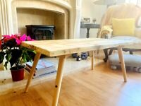 Bespoke Coffee Table handmade from reclaimed Scaffold Boards - Contactless Delivery Today