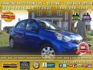 2015 Nissan Micra SV-$44/Wk-Bluetooth-AUX/CD/Mp3-Cruise-Keyless- London Ontario image 1