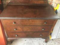 Mahogany chest of drawers. Free delivery. Good condition. Solid wood.