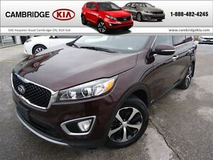 2016 Kia Sorento TURBO EX / LEATHER / AWD / HTD SEATS SUV