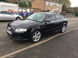 2007/56 plate Audi A4 2.0TDI S-Line 6 speed 18 inch RS alloys